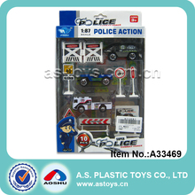 1:87 Scale police action toy police play set die cast construction toys