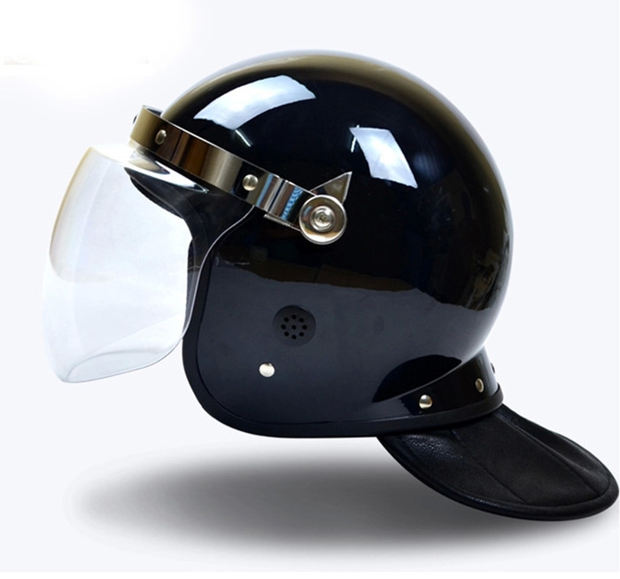 Mounted Police officers riot protection helmet against falling off/melee weapons/thrown projectiles