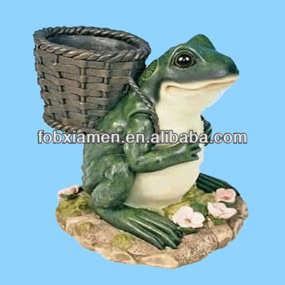 Resin Decorative Frog Animal Garden Mini Flower Planters Pot