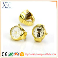 New different style digital finger ring watch gold ring designs for girls watch
