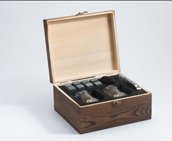 wholesale polished whiskey chill stones cube gift sets