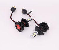 H4 Led Headlight T8 8000LM One Heat Sink Auto Led Headlight 6500k IP65 30W PHI-ZES Chi Auto Leds