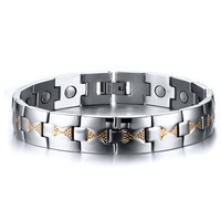 Smart Stainless Steel Bio Health Magnetic Bracelet Knot Design China Factory