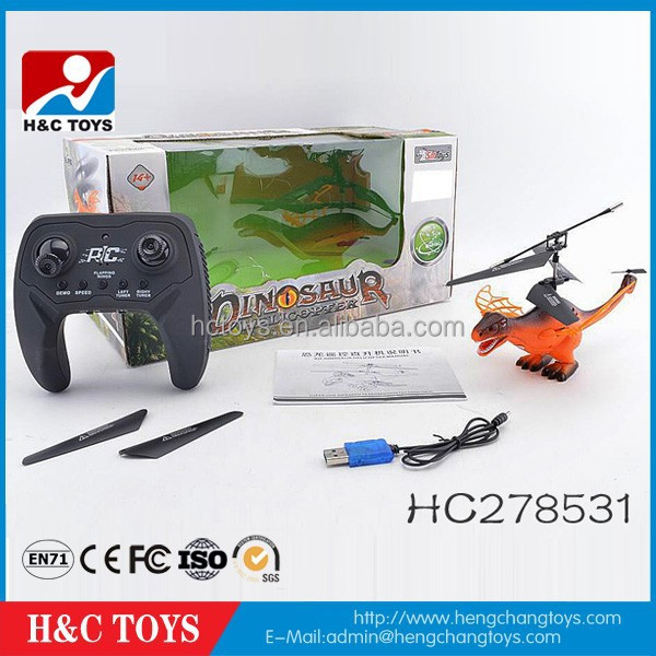 4.5 channel remote control flying dinosaur with light for sale HC278531