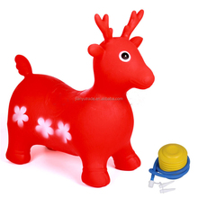 Customized Color Inflatable Unicorn Bouncy Animals Jumping Rubber Animals for Kids Riding