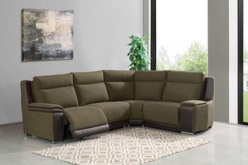 #2608 Fabric Corner Sofa Set Recliner Sofa