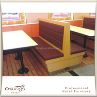 Double side booth seating sofa for restaurant