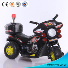 Police Patrol Rechargeable Battery Ride On Toy Motorcycles for Kids
