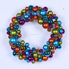 outdoor christmas lighted ball wreath big christmas hanging ball wreath