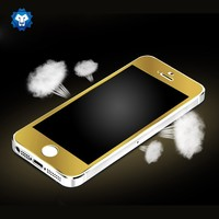 Factory directly selling tempered glass gold mirror screen protector for iphone 5/5s