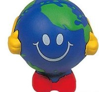 Novelty pu Smiling face ball Stress Shapes toys