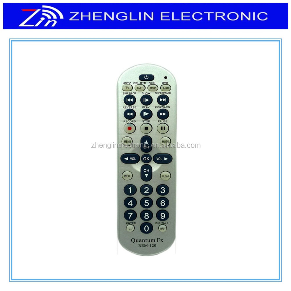 8 IN 1 universal remote control for TV/AUDIO/SAT/VCR/DVD/CBL/AUX