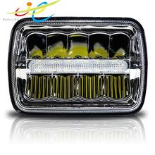 LED Jeep Headlight 7 inch 5*7 suqare Truck 45W Jeep Wrangler led headlight 12v 24v