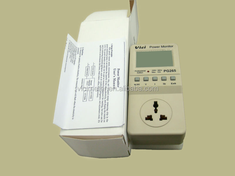 Multifunction digital power meter electricity data logger PG265