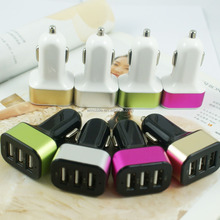 Multi smartphone chargers for iphone car charger with 3 ports usb car charger