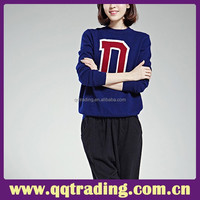New fashion D middle age lady sweater female vintage plain long sweater cheap sweater