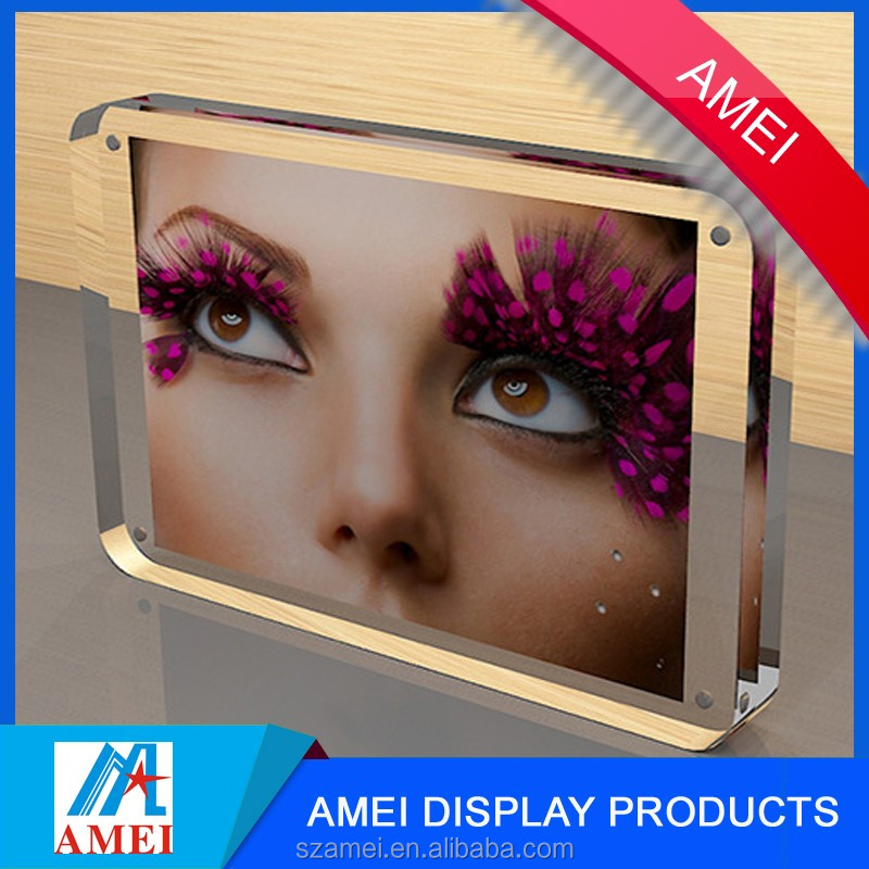2016 Crystal Hotsale digital photo frame / sexy funia 3d nude photo girls sex