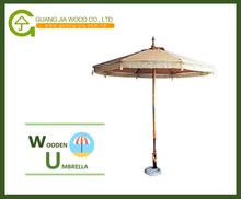 Wooden Outdoor Umbrella Parasol