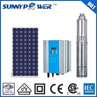 New design submersible deep well dc solar water pump