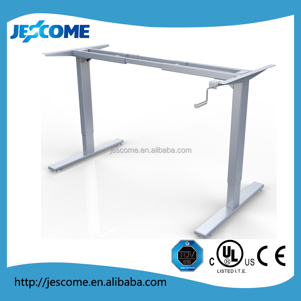ergonomic hand manual height adjustable office desk