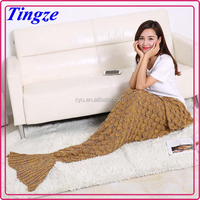 Hot sale Amazon Knit pattern high quality mermaid tail crochet sleeping bag Blanket mermaid tail Adult