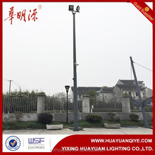 Folding or hinged octagonal steel outdoor lamp post