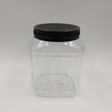 2L PET Jar with screw cap for dolls/biscuits/candies 2000ml storage box