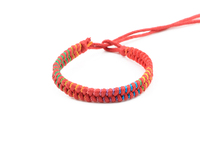 personalized woven bracelet hand made waxed cotton cord braided bracelet