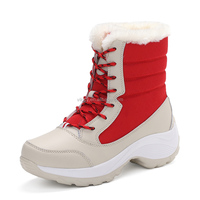 New Arrivals Ladies Waterpoof Winter Boots Fur Lining Cool Lace-up Outside Boots