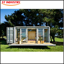 Modified Prebulit Recyclable Fireproof container house with wheels