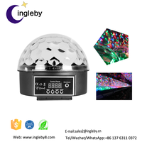 New items in sales on alibaba Digital dmx 512 voice-activated Crystal Magic ball bar Party Christmas Stage Lights Show