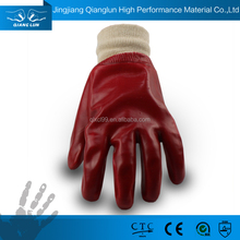 Cheap pvc coated water and acid proof hand work gloves for sale