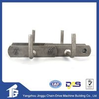 High intensity durable cast steel conveyor chain