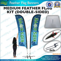 Medium feather flag cheap with double sides printing