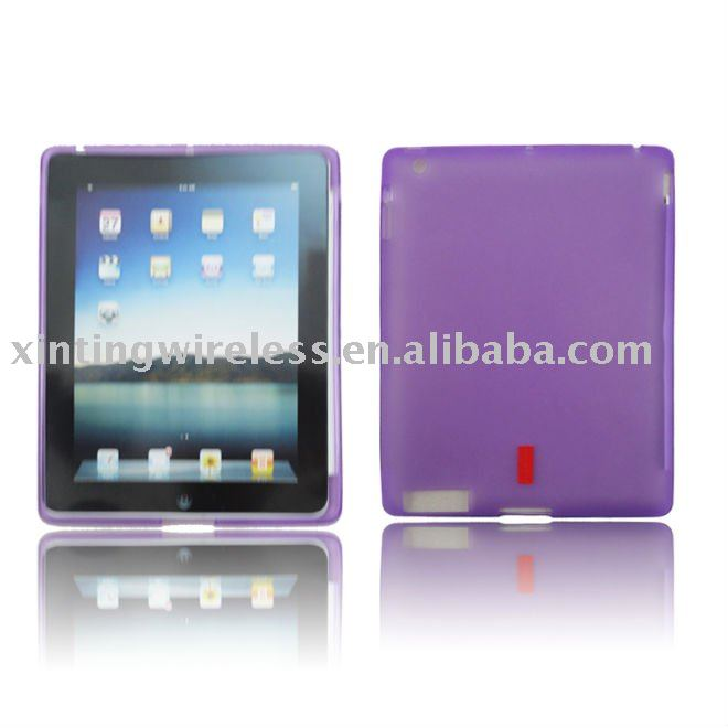 (Purple) For Ipad 2 TPU Case chinese cell covers
