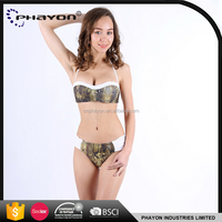 < OEM> Sexy Young Girl in Ruched Bandeau Micro Bikini Transparentes for women