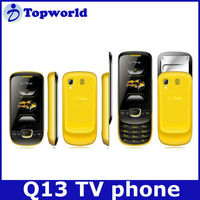 Factory OEM Q13 Slider Feature Phone Bluetooth TV Dual Cards GSM900/850/DCS1800/1900 Cell Phone