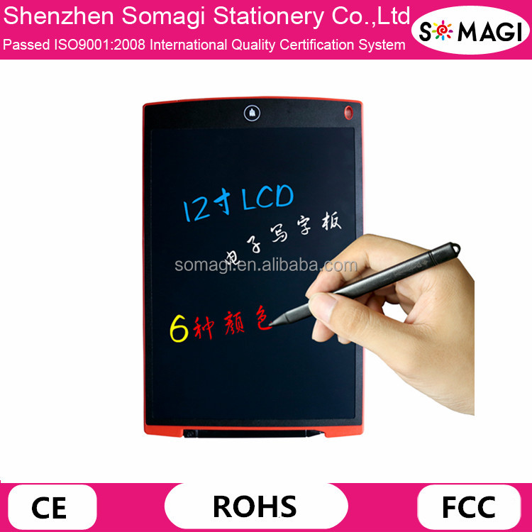 "12 Inch LCD Drawing Writing Tablet Ultra Thin 1/5"" Digital Writing Tablet Memo Pads"