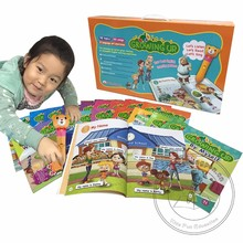 Point Reading Pen with Learning English Books Growing Up for Kindergarten Kids