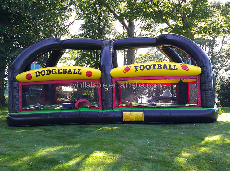 inflatable adult bounce house for dogeball football games