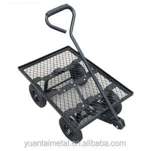 Made in China Steel Flatbed Utility Cart with Padded Pull Handle and 10-Inch Pneumatic Tires Tool cart TC4206N