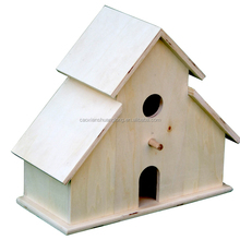 Hand made bird house wooden bird nest for decoration, for christmas decoration natural material bird house