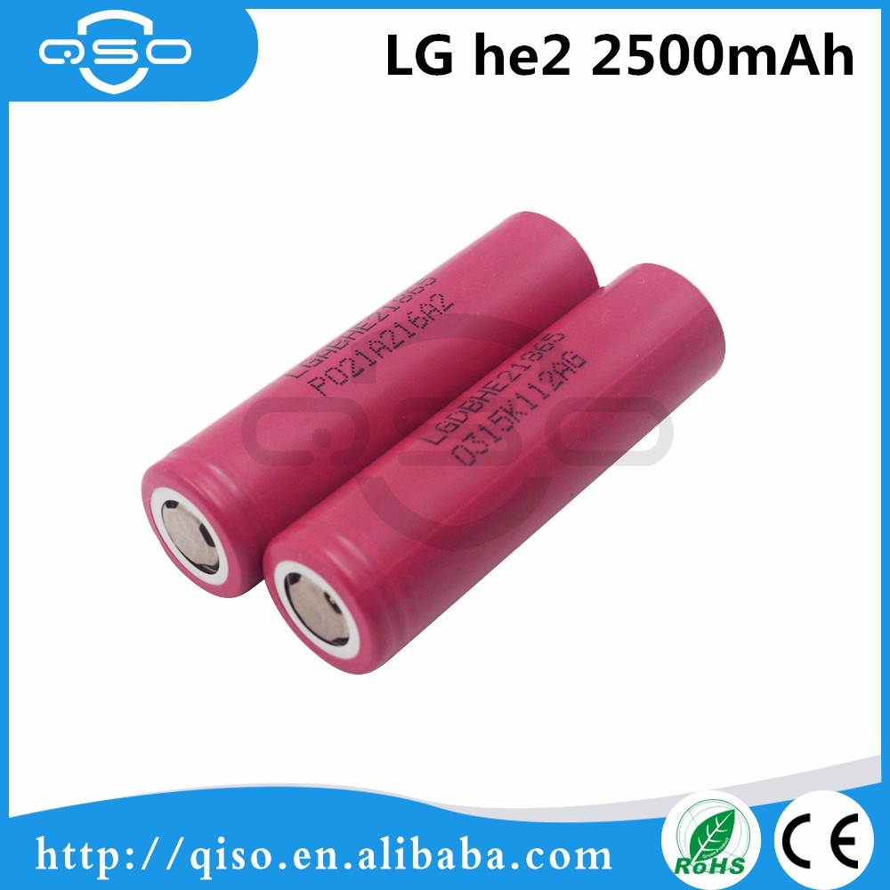 100% authentic Made in Korea power tool 18650 battery cell LG HE2 2500mah 20amp continuous for 260w box mod