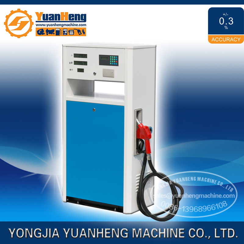 1350mm single nozzle petrol station fuel dispenser