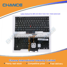 100% Original Laptop Keyboard for IBM L430 W530 T430I T430 T430S X230I X230, US UK layout keyboard series