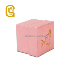 The pink color lovely fruit person square jewelry packaging box