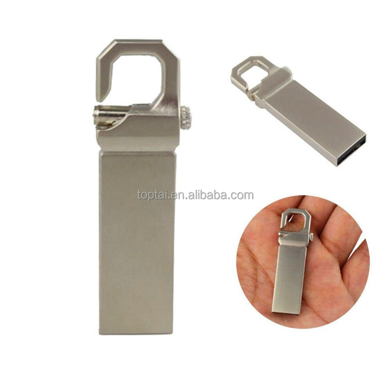 Metal Mini Silver Waterproof 64GB USB Flash Drives pen drive 32GB 16GB 8GB 2G 4G Flash Drive memory stick with key ring