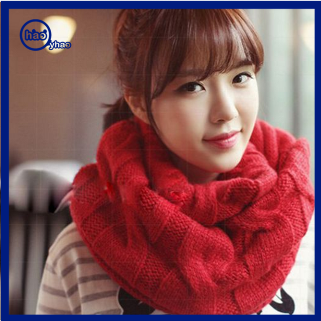 Yhao Thick Knitted Winter Warm Collar Infinity Circle Scarf Neck Shawl