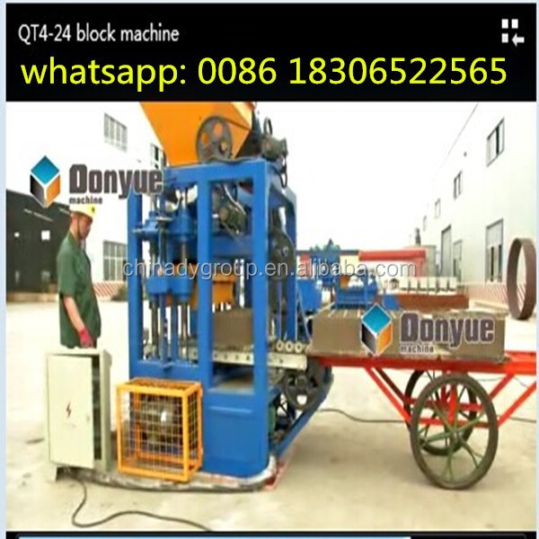 QT4-24 manual interlocking block machine sale in Turkey / shandong Dongyue machinery group company ltd.