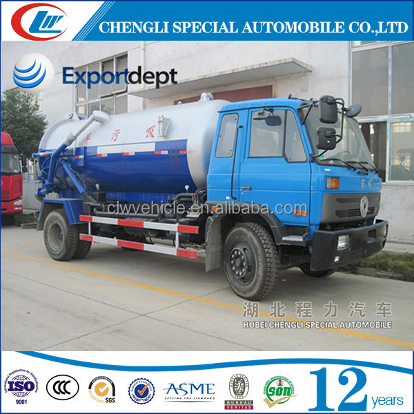 Dongfeng 4x2 8000L diesel engine sewage suction truck